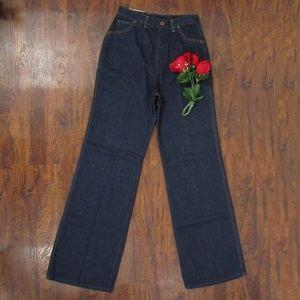 Wrangler Wide Bell Bottoms Jeans Deadstock Vtg 70s